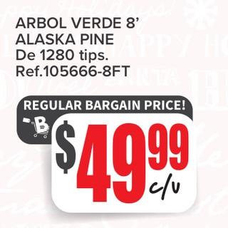 Arbol Verde 8' Alaska Pine De 1280 tips