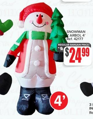 Snowman y Arbol 4'
