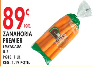 Zanahoria Premier Empacada