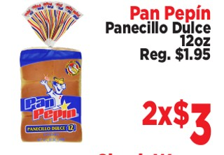 Pan Pepín Panecillo Dulce