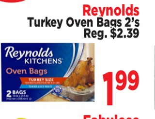 Reynolds Turkey Oven Bags 2's