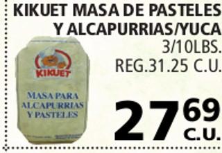 Kikuet Masa de Pasteles y Alcapurrias