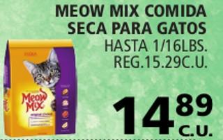 Meow Mix Comida Seca Para Gatos