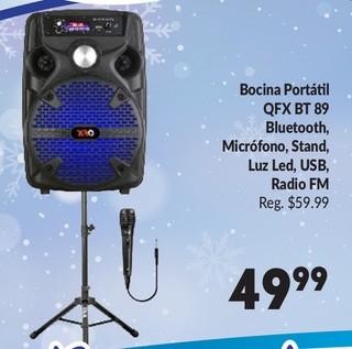 Bocina Portátil QFX BT 89 Bluetooth