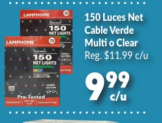 150 Luces Net Cable Verde