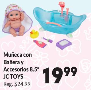 """Muñeca con Bañera y Accesorios 8.5"""""""