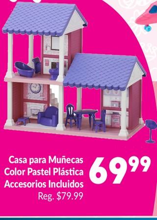 Casa para Muñecas Color Pastel Plástica