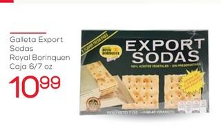 Galleta Export Sodas Royal Boriquen