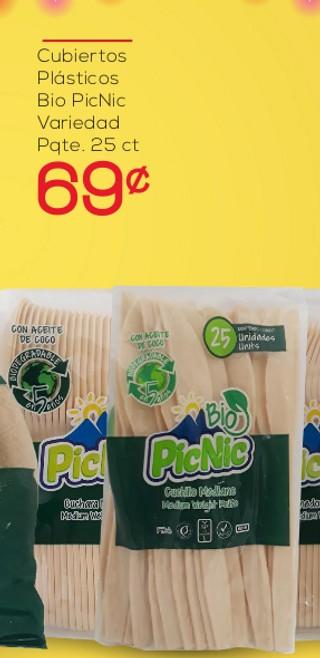 Cubiertos Plásticos Bio PicNic