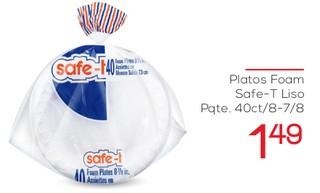 Platos Foam Safe-T Liso