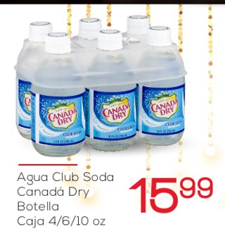 Agua Club Soda Canadá Dry Botella