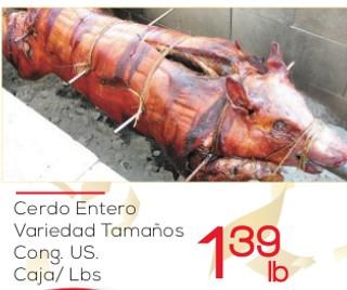 Cerdo Entero Variedad Tamaños