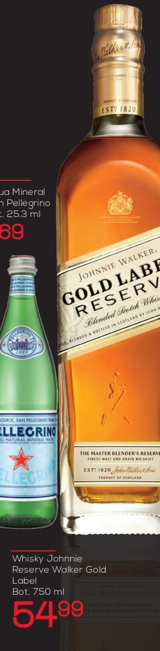 Whisky Johnnie Reserve Walker Gold Label