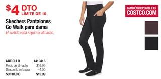 Skechers Pantalones Go Walk para Dama