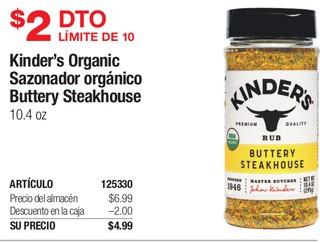 Kinder's Organic Sazonador Orgánico