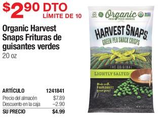 Organic Harvest Snaps Frituras de Guisantes Verdes