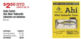 Safe Catch Ahi Atún Yellowfin Silvestre en Bolsitas