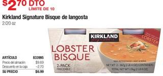 Kirkland Signature Bisque de Langosta