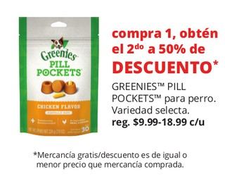 Greenies Pill Pockets Para Perro