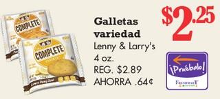 Galletas Variedad Lenny & Larry's