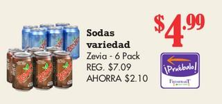 Sodas Variedad Zevia - 6 Pack