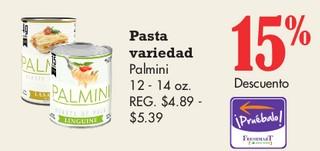 Pasta Variedad Palmini
