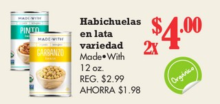 Habichuelas en lata Variedad Made Wish 12 oz
