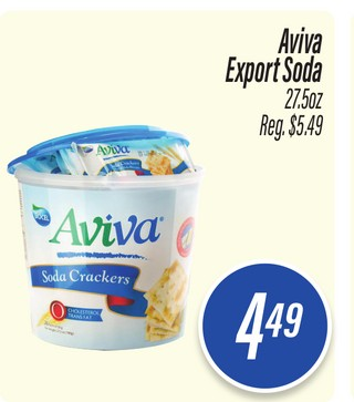 Aviva Export Soda