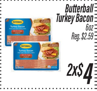 Butterball Turkey Bacon 6oz